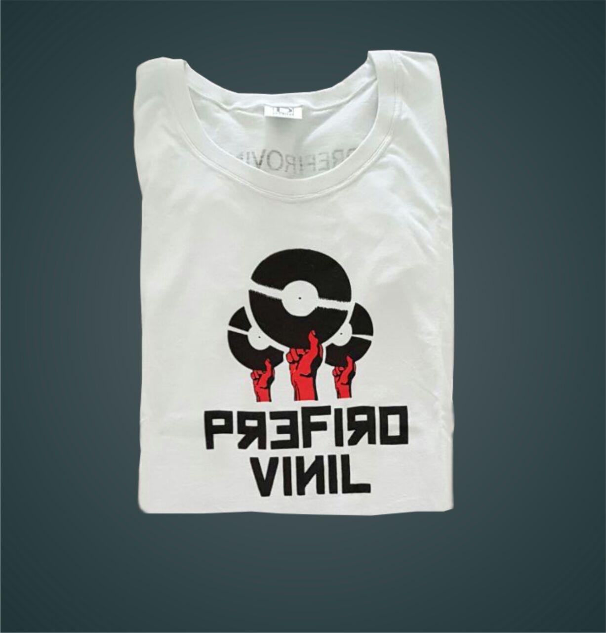 e161e5a2ce Prefiro Vinil  Tshirt - Branca - G - Camiseta Prefiro Vinil Branca Feminina